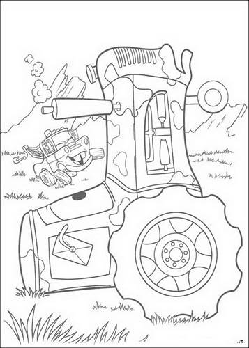 Gratis Kleurplaten Tractor.Kids N Fun 84 Kleurplaten Van Cars Pixar