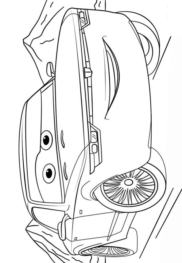 Kleurplaat Cars Lightning Kids N Fun Kleurplaat Cars 3 Bob Sterling