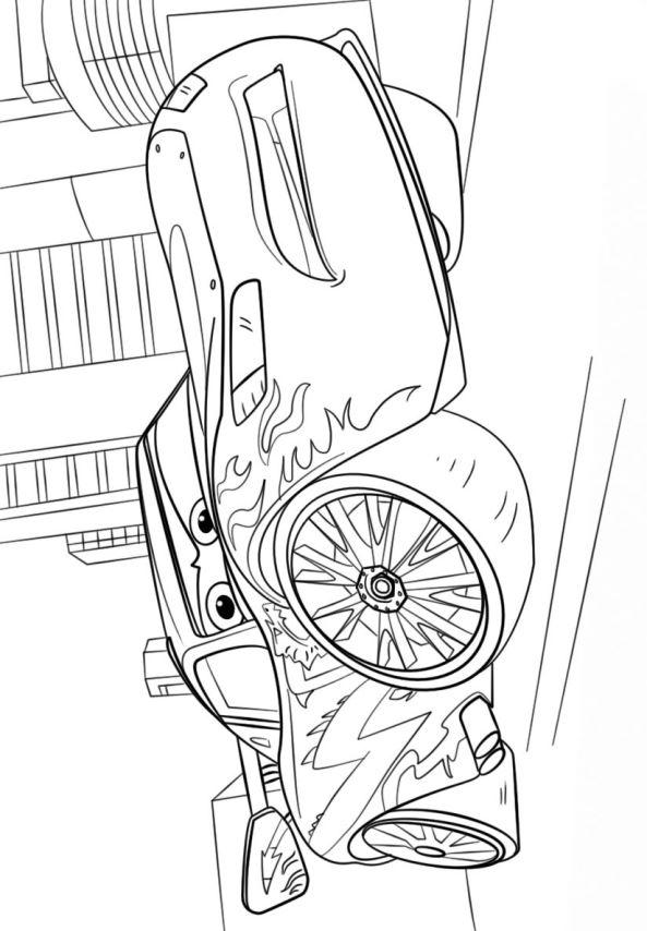 kidsnfun  kleurplaat cars 3 lightning mcqueen 2