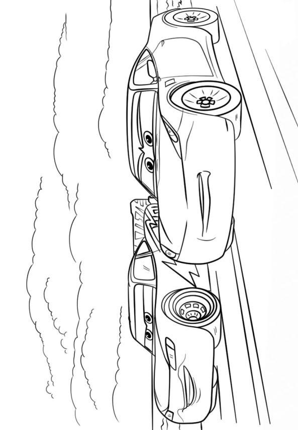 kidsnfun  kleurplaat cars 3 mcqueen ramirez
