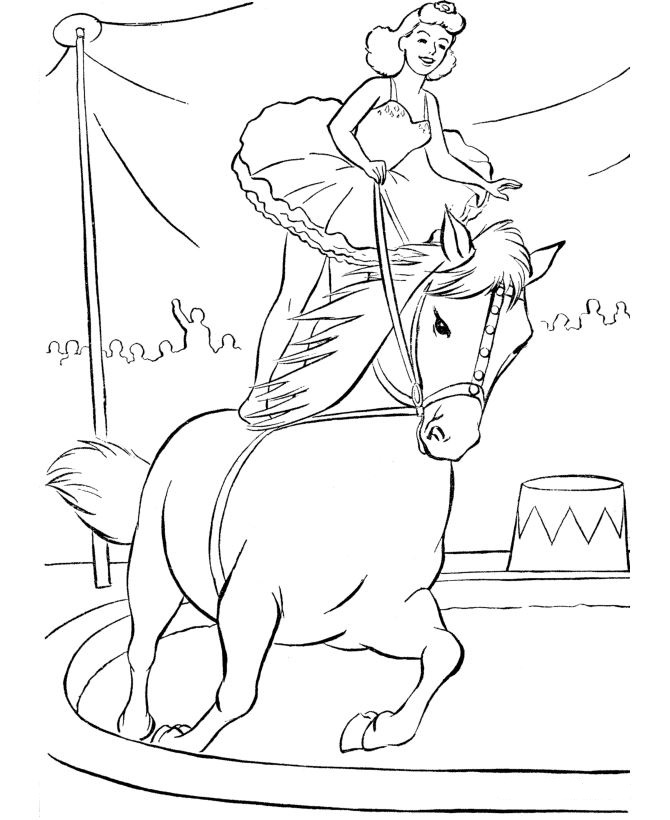 circus scene coloring pages - photo #2