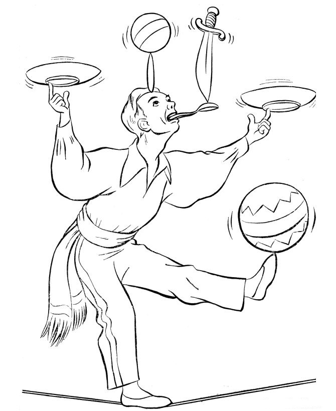 free downloadable circus coloring pages - photo#44
