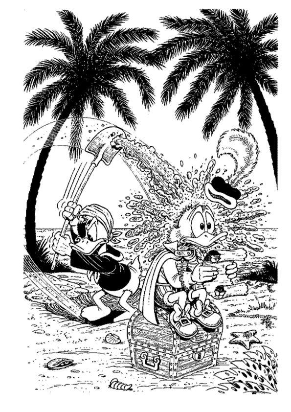 Kleurplaten Donald Duck Kerst.Mickey Mouse Kerst Kleurplaat Donald Duck Malvorlagen