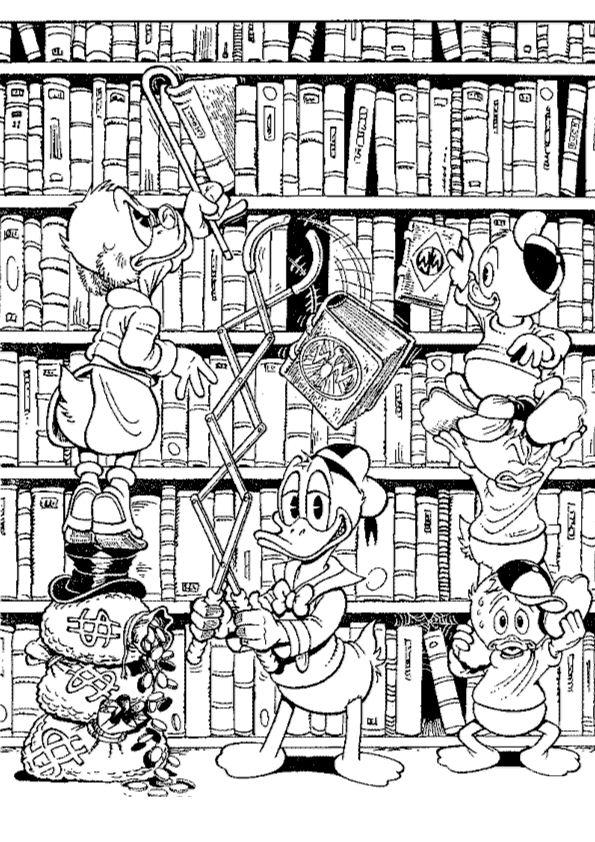 Kleurplaat Mickey En Minnie Mouse Kids N Fun 24 Kleurplaten Van Dagobert Duck