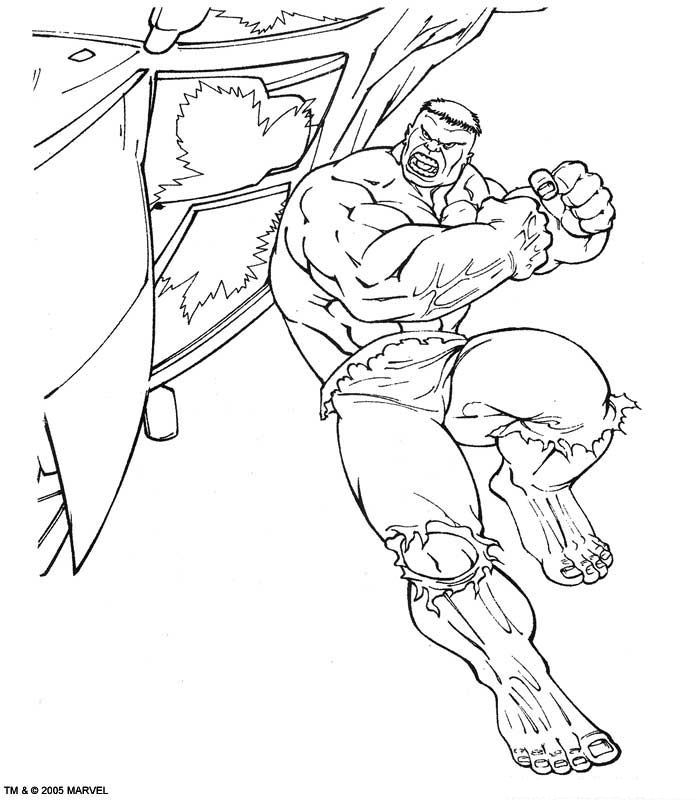 Kids-n-fun | Kleurplaat Hulk Hulk