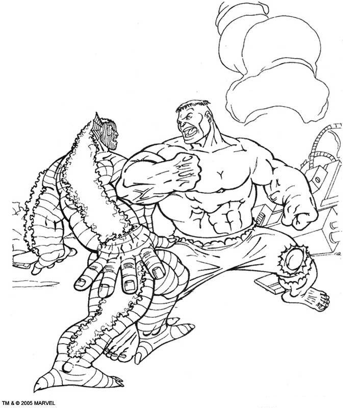 Kids N Fun Kleurplaat Hulk Hulk