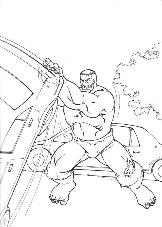 Kleurplaten Hulk.Kids N Fun Kleurplaat Hulk Hulk