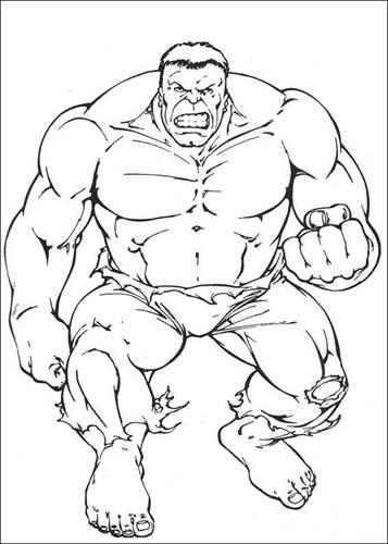 Kleurplaten The Hulk.Kids N Fun 77 Kleurplaten Van Hulk