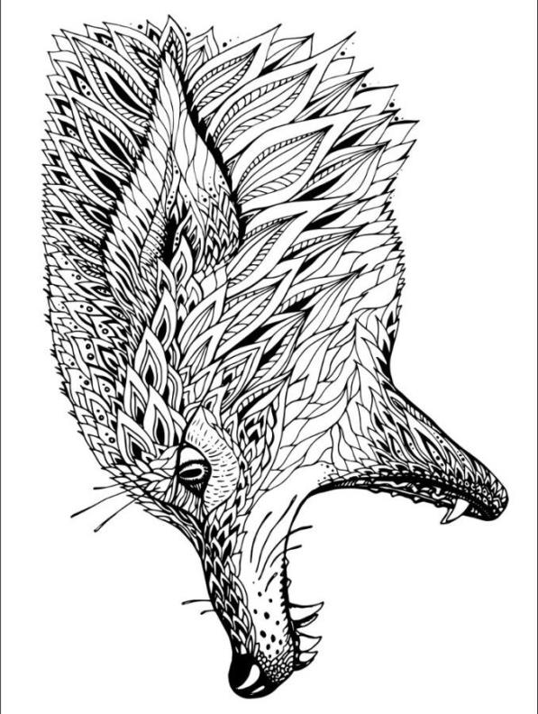 Cool Wolf Coloring Pages