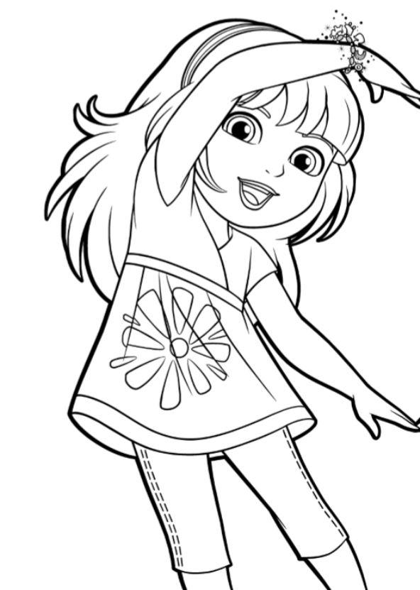 Grote Kleurplaten Dora.Dora And Friends Kleurplaat