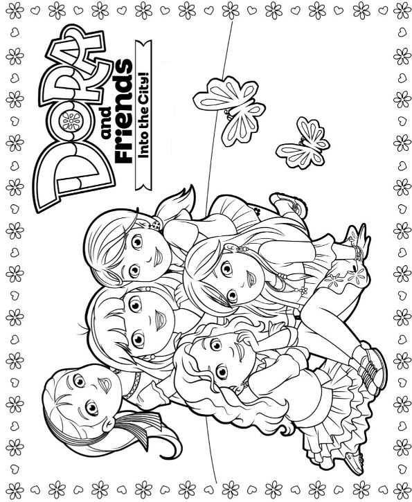 Kids-n-fun   6 Kleurplaten van Dora and Friends