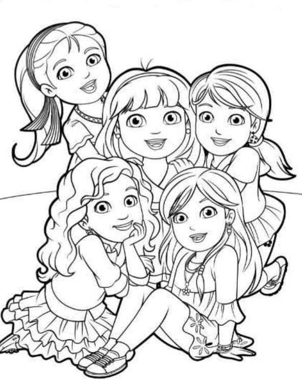 Dora Prinsessen Kleurplaten.Kids N Fun Alle Kleurplaten Over Meiden