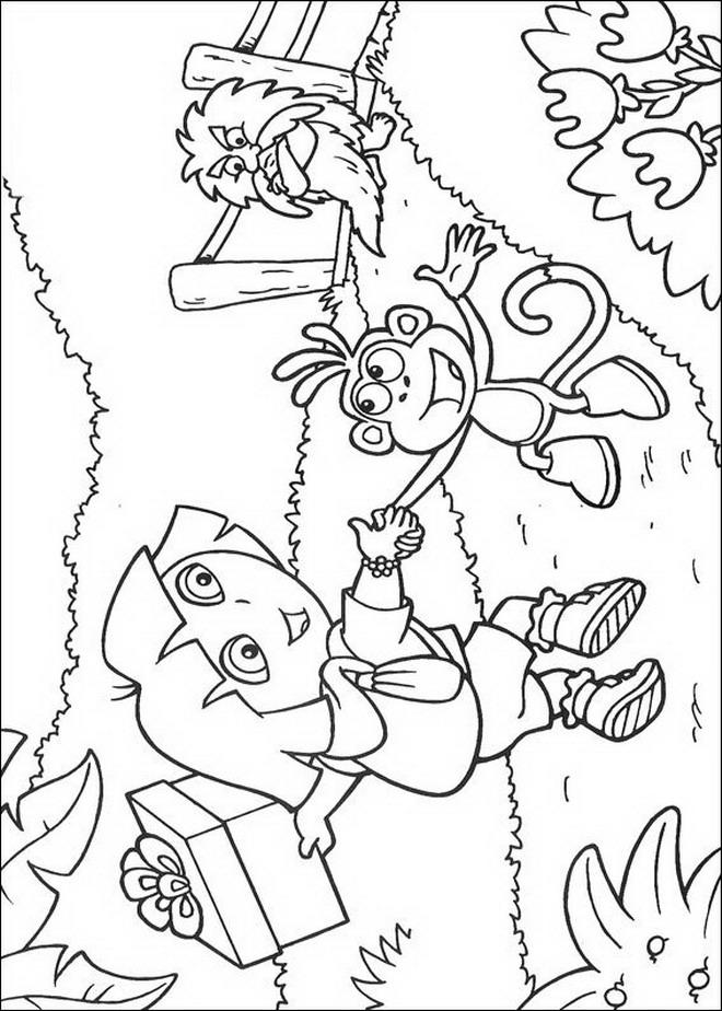 Kleurplaten Van Dora Boots.Kids N Fun Kleurplaat Dora De Verkenner Dora En Boots
