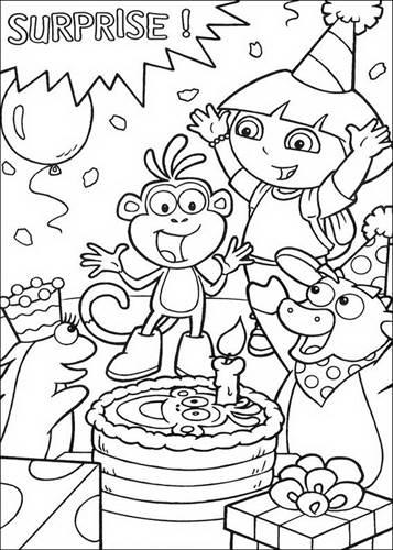 Kleurplaten Dora Als Prinses.Kids N Fun 84 Kleurplaten Van Dora De Verkenner