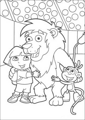 Kleurplaten Dora Pdf.Kids N Fun 84 Kleurplaten Van Dora De Verkenner