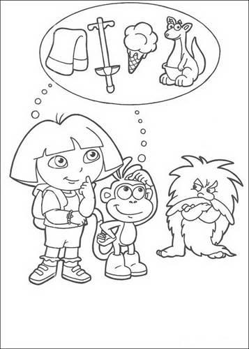Dora Kleurplaten Om Uit Te Printen.Kids N Fun 84 Kleurplaten Van Dora De Verkenner