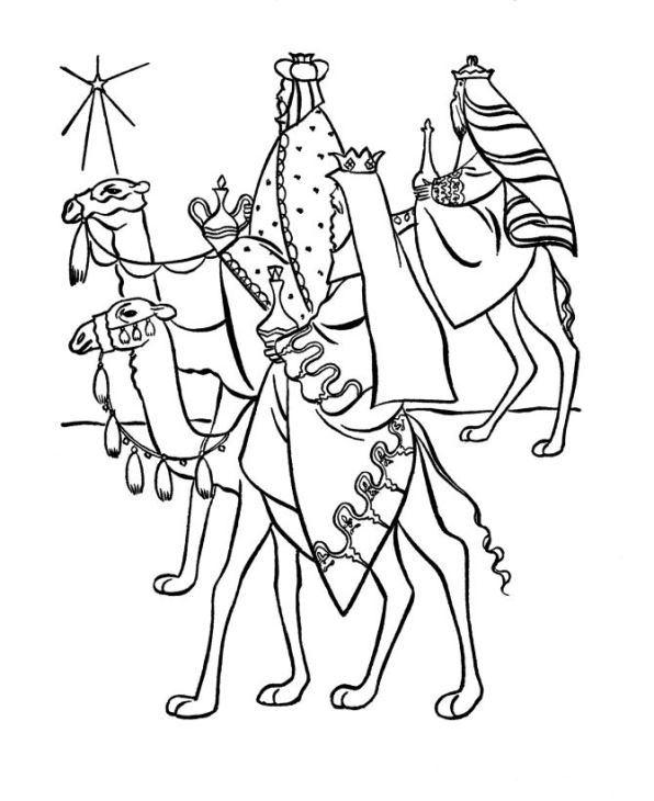 Kids n fun 17 kleurplaten van drie koningen for Wisemen coloring pages