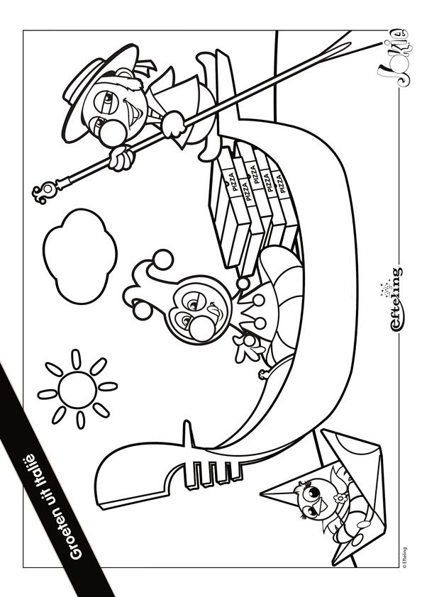 Kids N Fun Kleurplaat Efteling Jokie Jokie Italie