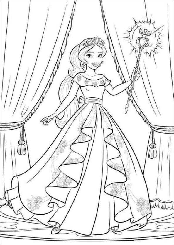 Kids n fun 44 kleurplaten van elena van avalor for Elena of avalor coloring pages