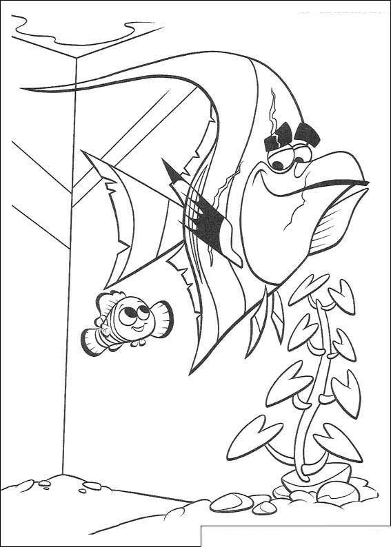 Gill Finding Nemo Coloring Page Kids-n-fun | 65 Kleurp...