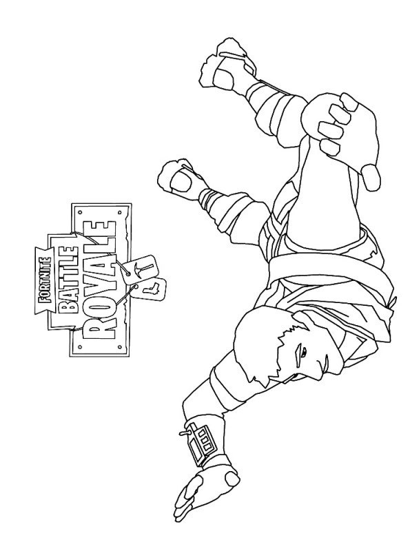 Kleurplaat Fortnite Ninja Kids N Fun 37 Kleurplaten Van Fortnite