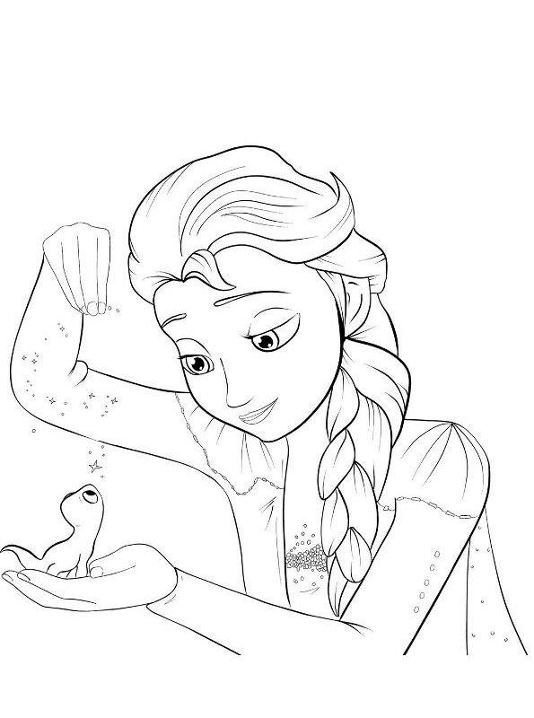 Kleurplaat Anna Kerst Kids N Fun Kleurplaat Frozen 2 Elsa Bruni