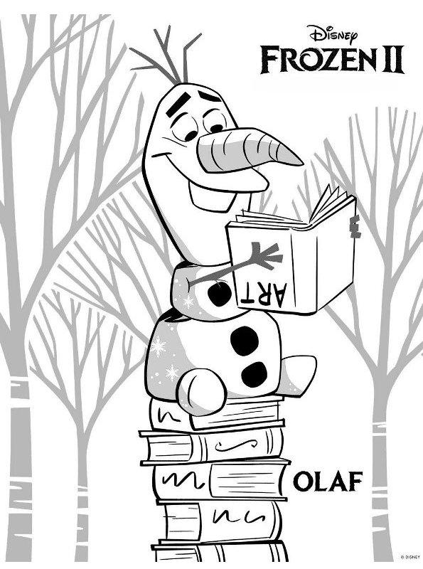 Kleurplaten Kerstmis Frozen.Kids N Fun Kleurplaat Frozen 2 Frozen 2 Olaf
