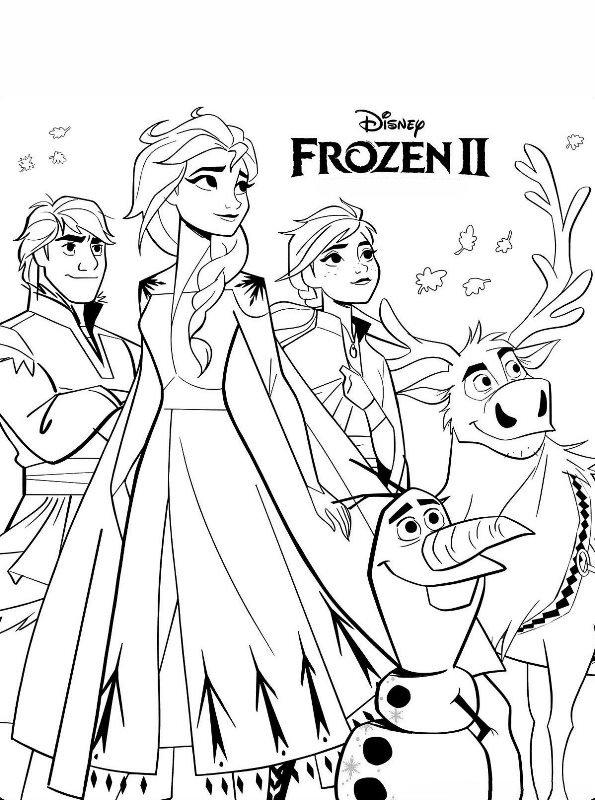 Kleurplaten Kerstmis Frozen.Kids N Fun Kleurplaat Frozen 2 Frozen 2