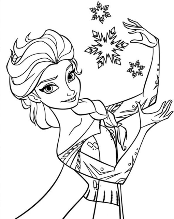 Kids N Fun Kleurplaat Frozen Anna En Elsa Elsa 5