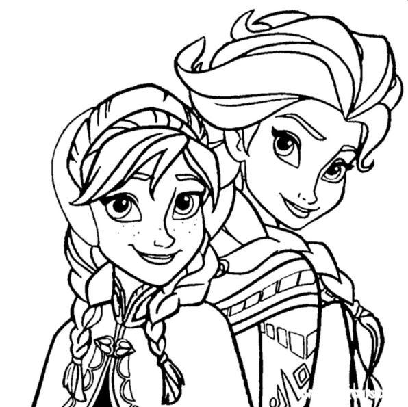 Olaf Kerst Kleurplaat Kids N Fun 17 Kleurplaten Van Frozen Anna En Elsa