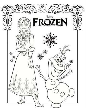 Kleurplaten Elsa Van Frozen.Kids N Fun 17 Kleurplaten Van Frozen Anna En Elsa