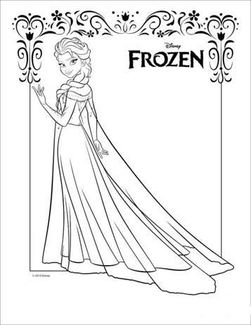 Kleurplaten Elsa Anna.Kids N Fun 17 Kleurplaten Van Frozen Anna En Elsa