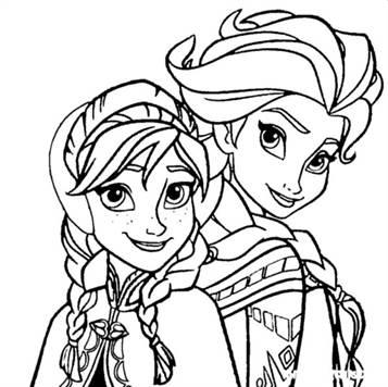 Kleurplaten Frozen Elsa En Anna En Olaf.Kids N Fun 17 Kleurplaten Van Frozen Anna En Elsa