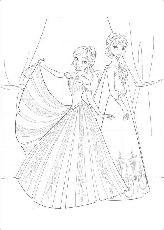 Frozen Coloring Pages A4 : Kids n fun kleurplaten van frozen
