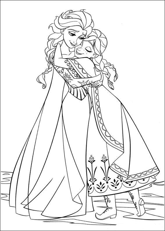 Kleurplaten prinsessen frozen