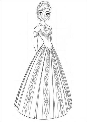 Kleurplaten Prinses Frozen.Kids N Fun 35 Kleurplaten Van Frozen