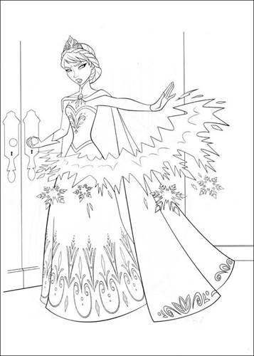 Kleurplaten Prinsessen Frozen.Kids N Fun 35 Kleurplaten Van Frozen