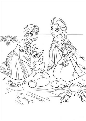 Kleurplaten Frozen Kasteel.Kids N Fun 35 Kleurplaten Van Frozen
