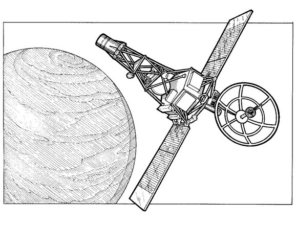 Kleurplaten Ruimtevaart.Kids N Fun Kleurplaat Ruimtevaart Geschiedenis Mariner 2 Venus