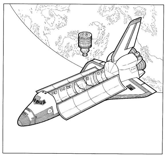 kleurplaten ruimtevaart