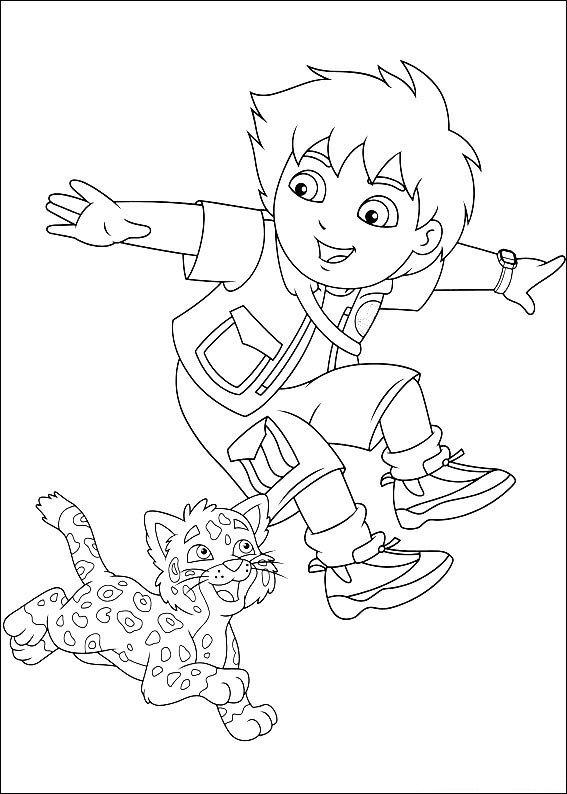 kleurplaten baby luipaard
