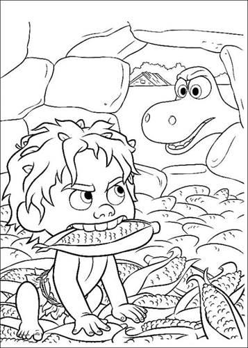 Kleurplaten Dinosaur.Kids N Fun 25 Kleurplaten Van Good Dinosaur