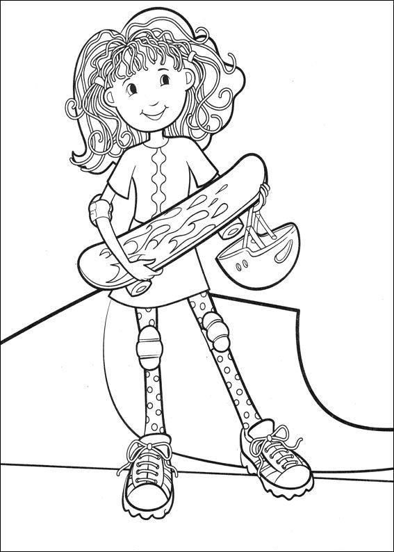 Kleurplaat Kalender Maart Kids N Fun Skateboarden