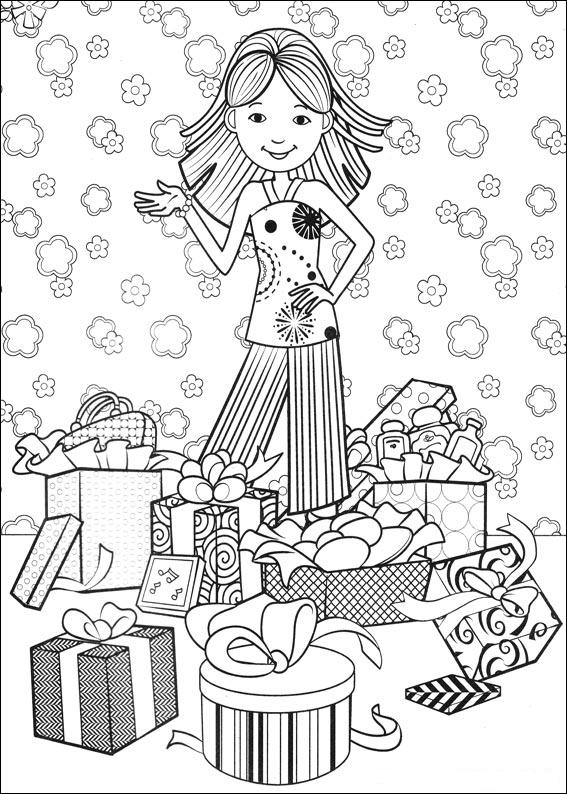printable groovy girls coloring pages - photo#45