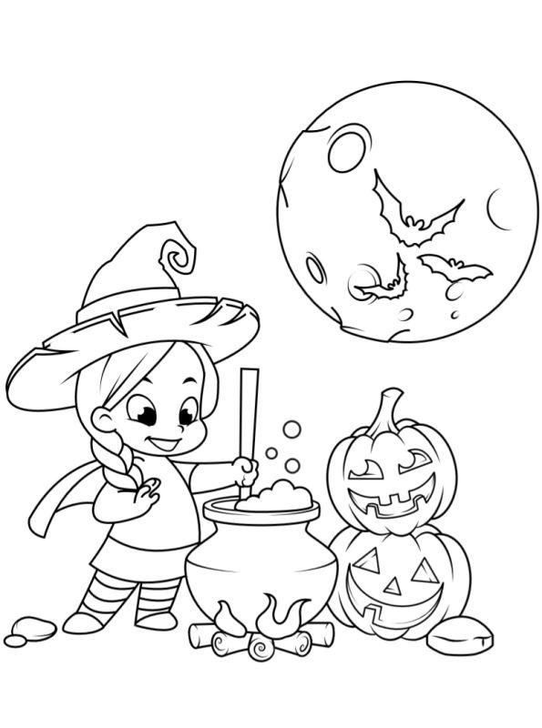 Kids-n-fun | Kleurplaat Halloween kids Halloween kids