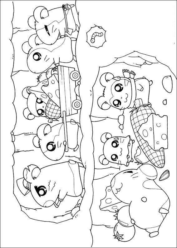 Kids N Fun 32 Kleurplaten Van Hamtaro