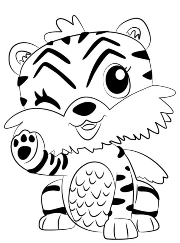 n kleurplaat hatchimals tijger
