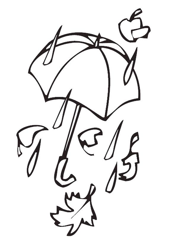 Kids N Fun Kleurplaat Herfst Storm En Regen