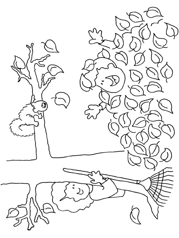 Kleurplaten Van Herfst.Kids N Fun 48 Kleurplaten Van Herfst