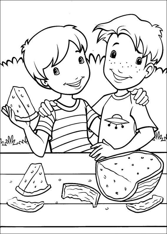 kleurplaten lekker eten